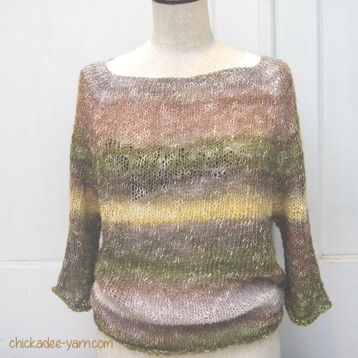 a blog by chicakdee shawl in a ball のトップダウンセーター