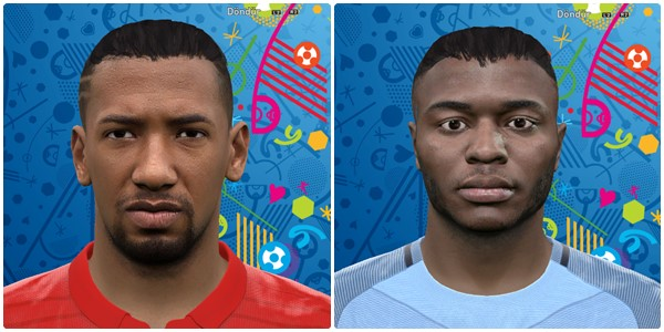 PES 2016 Sterling and Boateng Face by Vusal03