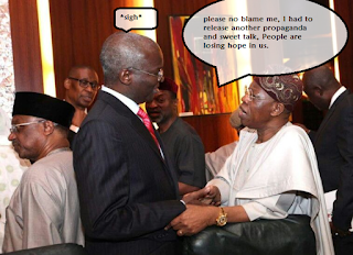 PHOTOS: Hilarious Fictive Conversation A Nigerian Made Out Of Fashola & Lai's Photo- Jokes