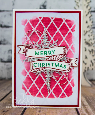 Christmas Banner Card made using Stampin' Up! UK Supplies which you can buy here
