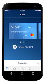 تطبيق للحصول على بطاقة بنكية MasterCard للتسوق