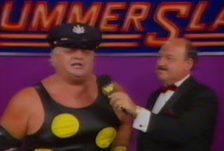 WWF / WWE Summerslam 1989 - Dusty Rhodes cuts a promo on his Summerslam opponent, The Honky Tonk Man