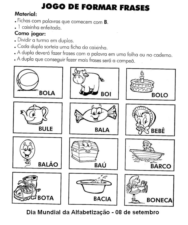 Dia Mundial Da Alfabetização 75 Atividades Exercícios Desenhos Para