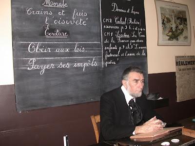 Photographie du tournage « De Jules à Julien », musée 2004, acteur Pierre Rhéty
