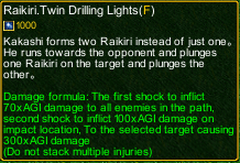 naruto castle defense 6.0 Kakashi Raikiri.Twin Drilling Lights detail