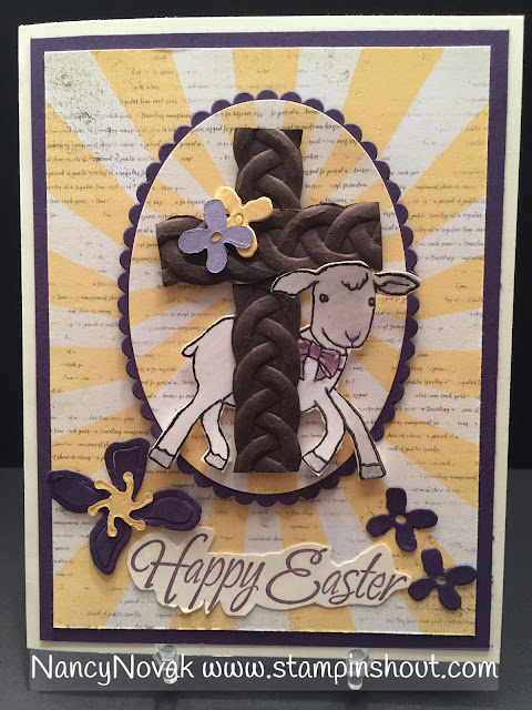 easter cards, little cuties, stampin up, lamb of god, religious easter card