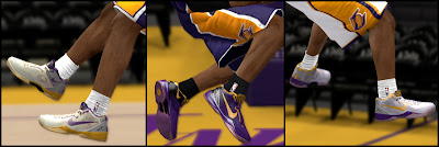 "NBA 2K13 Nike Kobe 8 ""Lakers"" PE Shoes"