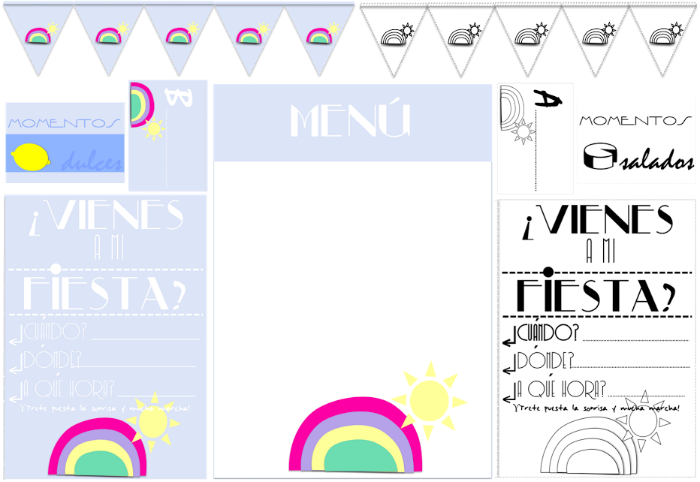 kits fiesta imprimibles gratis