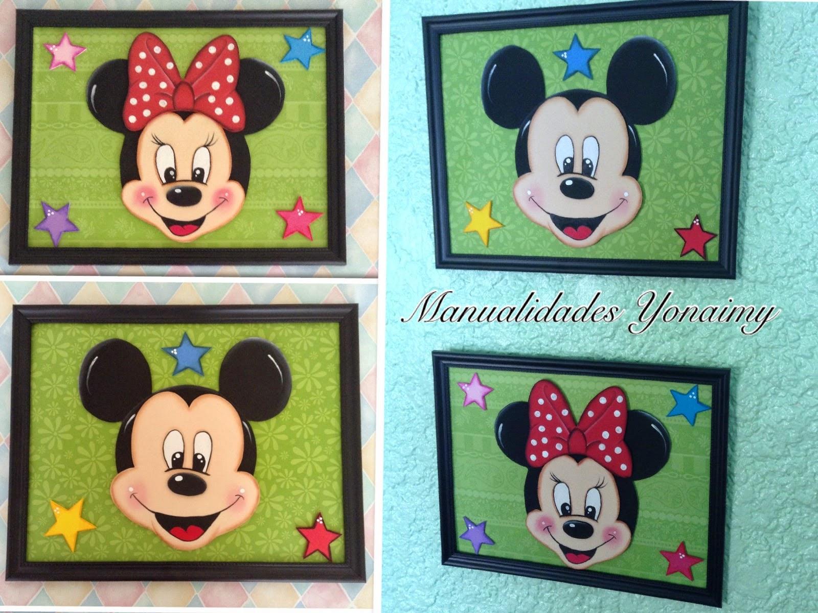 Cuadro Decorativo De Mickey O Minnie Mouse P