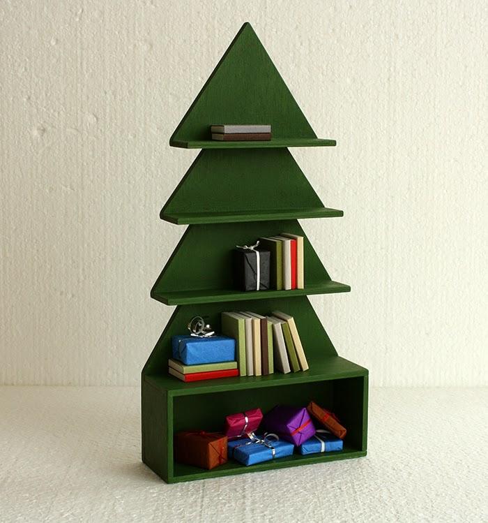 Bookshelf Christmas Tree Bookcase