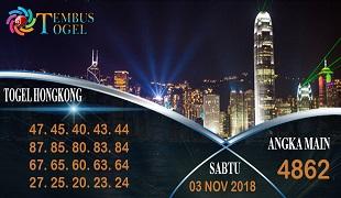 Prediksi Angka Togel Hongkong Sabtu 03 November 2018
