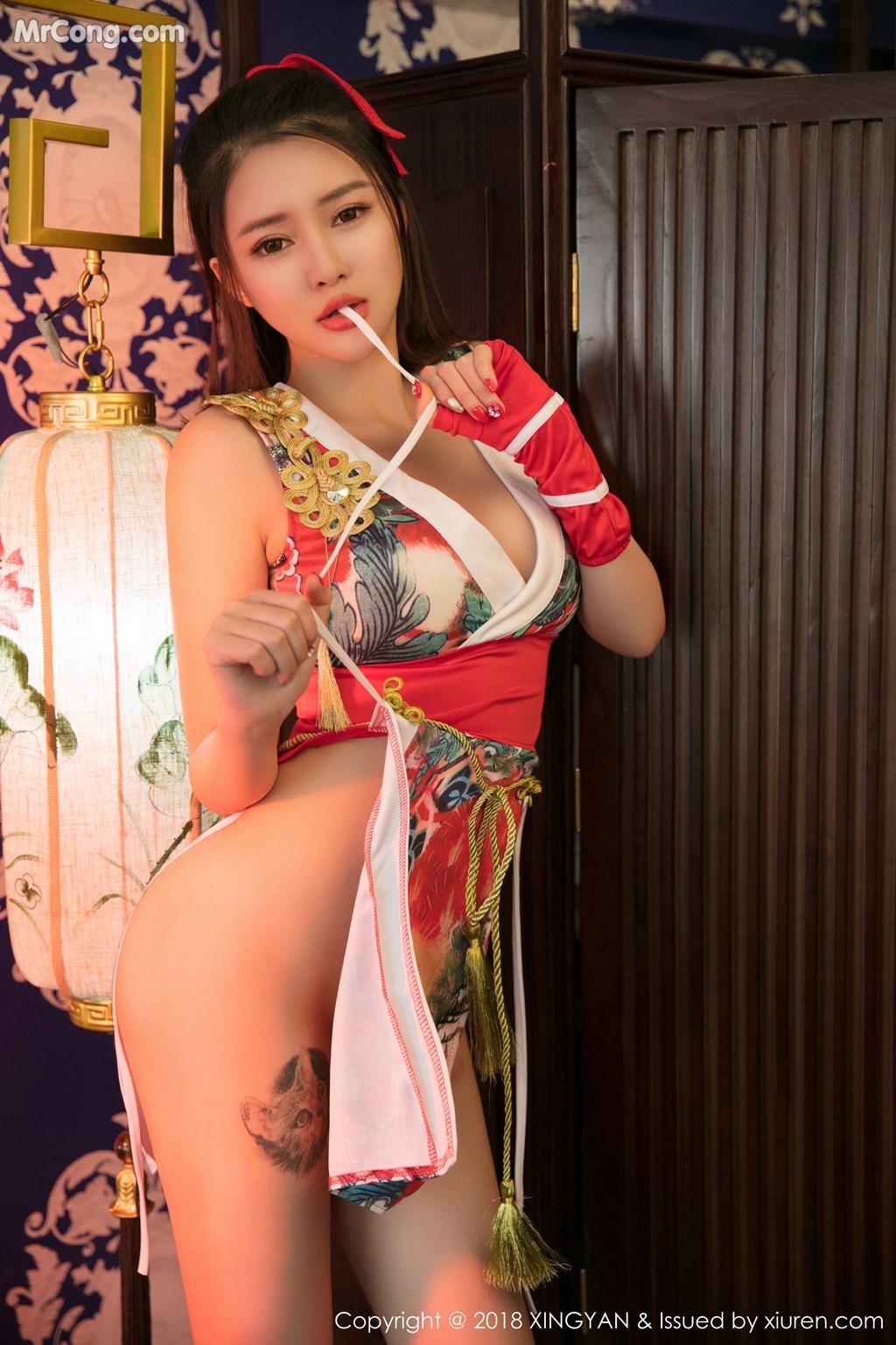 Image XingYan-Vol.028-MrCong.com-016 in post XingYan Vol.028: Người mẫu 廿十 (41 ảnh)