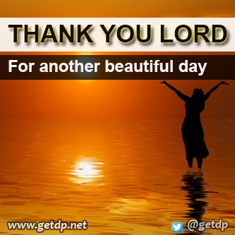 Thank You Lord For This New Day