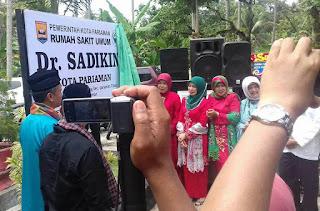 Wako Mukhlis Rahman, Resmikan RSUD dr. Sadikin Pariaman