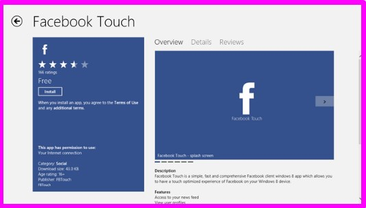 Facebook Touch Login