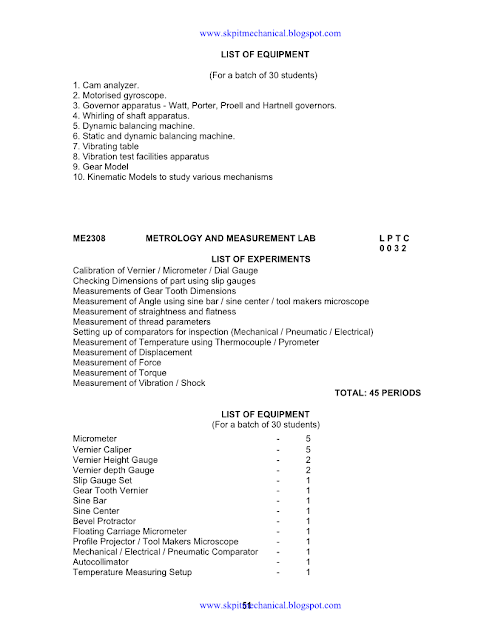 SYLLABUS FOR 1-8 SEMESTER   SKPIT MECHANICAL