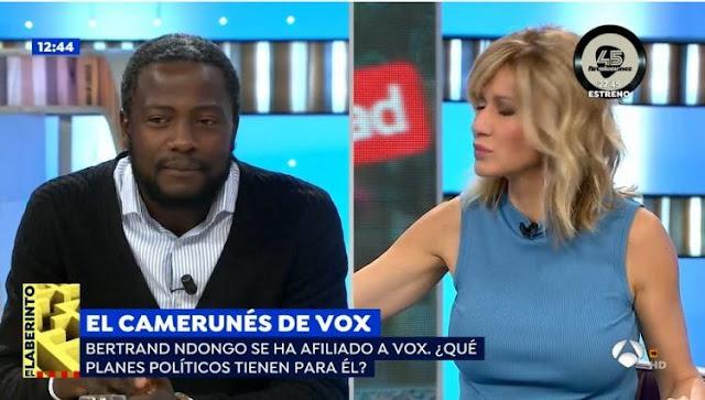 Susanna Griso manda callar al inmigrante camerunés que defiende a VOX