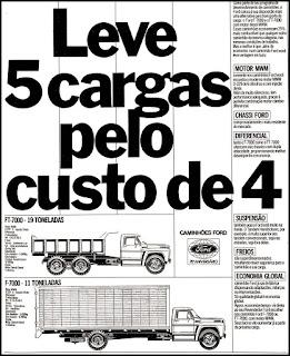 propaganda caminhão Ford - 1978; 1978. Ford. propaganda anos 70. propaganda carros anos 70. reclame anos 70. Oswaldo Hernandez.