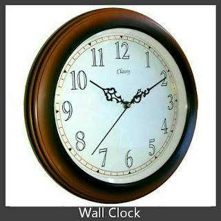 Classy Wall Clock Sweep Movement Jam Dinding Klasik