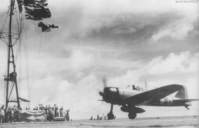 Zero taking off from Zuikaku, 23 January 1942 worldwartwo.filminspector.com