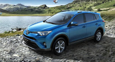 2017 Toyota RAV4 Hybrid Blue color HD Photos 01