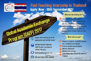 Beasiswa Pertukaran Mahasiswa S1 ke Thailand Program GAEP