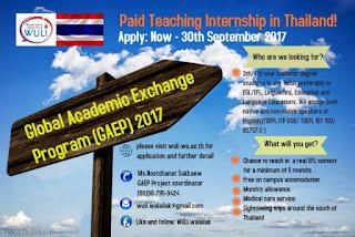 beasiswa pertukaran mahasiswa ke thailand global academic exchange program