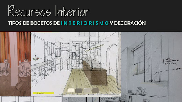 Tipos de bocetos de interiorismo y decoraci n recursos for Bocetos de disenos de interiores