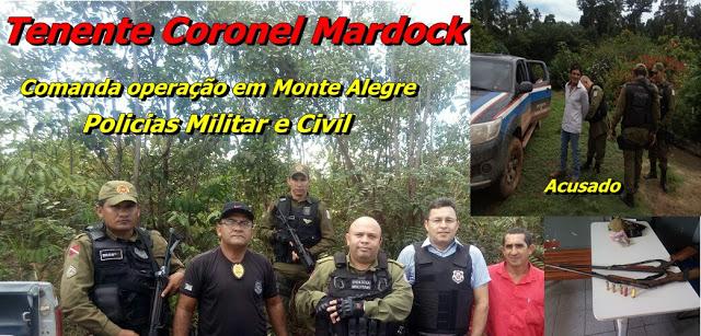 TEN CEL, MARDOCK COMANDA MISSÃO EM MONTE ALEGRE