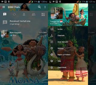 BBM MOD Moana v3.2.512 Terbaru Gratis Change Background