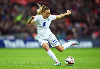 Toni Duggan playing for England