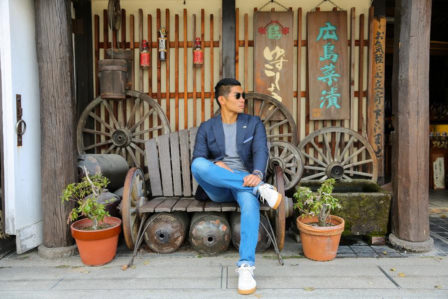 Leo Chan, Pinstripe, Sweats, Spring Style, Japan