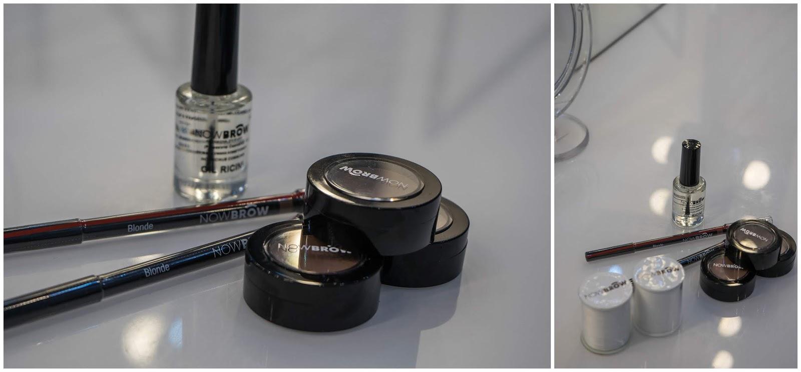 3 kosmetyki nowbrow łódź pomady do brwi balsam olejek rycynowy łódź salon now brow kiedy czynne opinia jakość