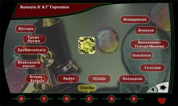 Βιολογία Α' - Β' - Γ' Γυμνασίου - Δωρεάν εκπαιδευτικό λογισμικό
