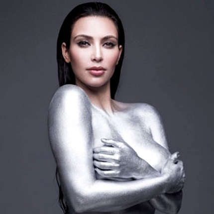 Kim Kardashian Body Painting