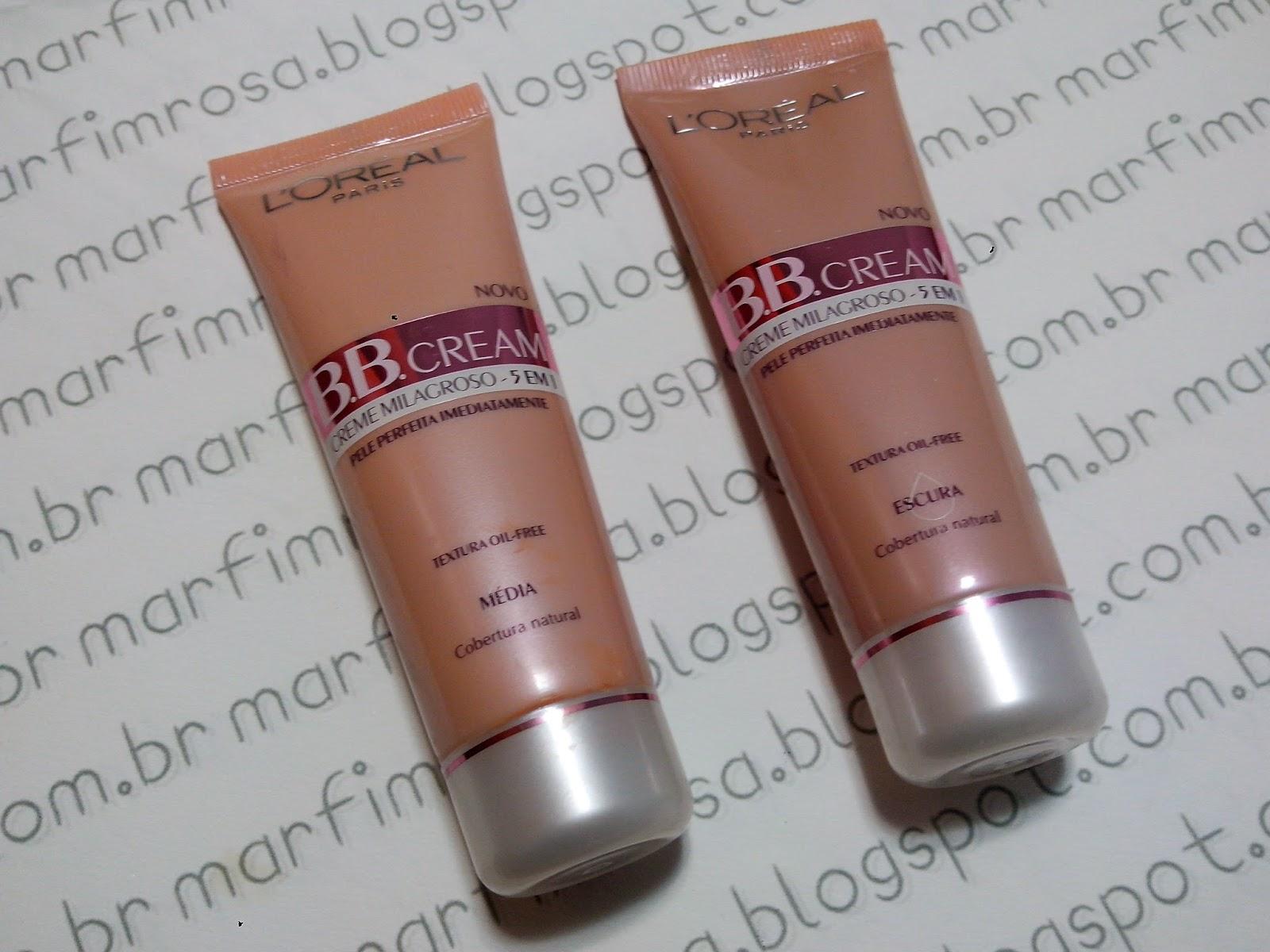 BB Cream Creme Milagroso 5 em 1 L'oreal - Cor Média e Escuro resenha