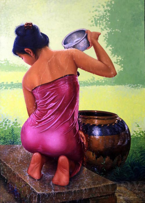 Vintage Paintings of Beautiful Woman's 38