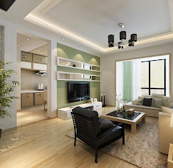 drawing decoration interior living effect