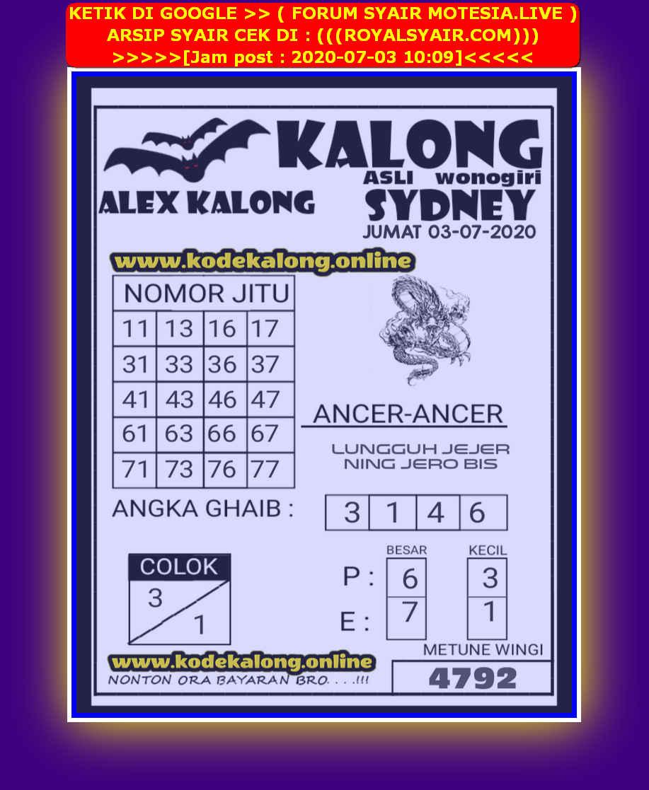 Kode syair Sydney Jumat 3 Juli 2020 193