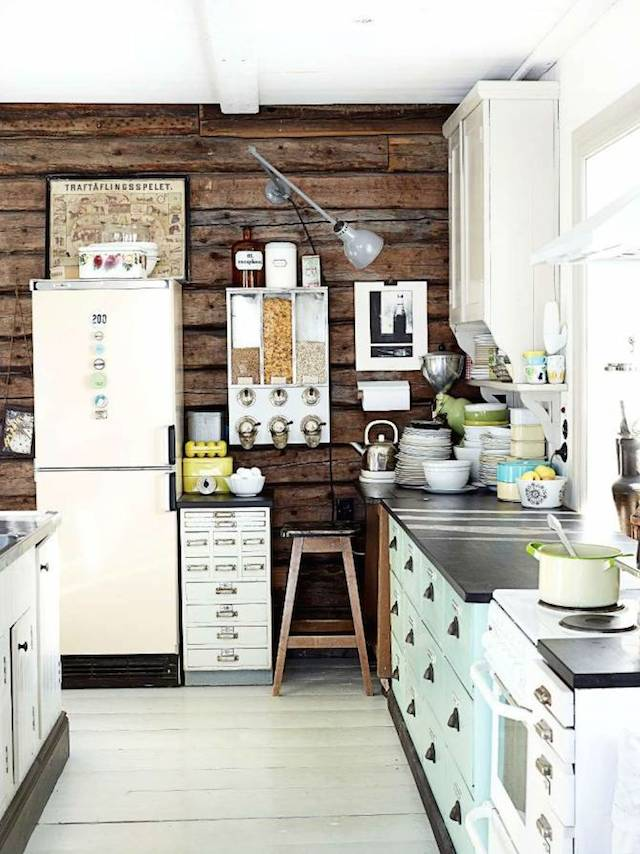 my scandinavian home: a lovely finnish kitchen with vintage finds