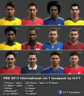 International facepack Pes 2013 Vol.1 by Vicen