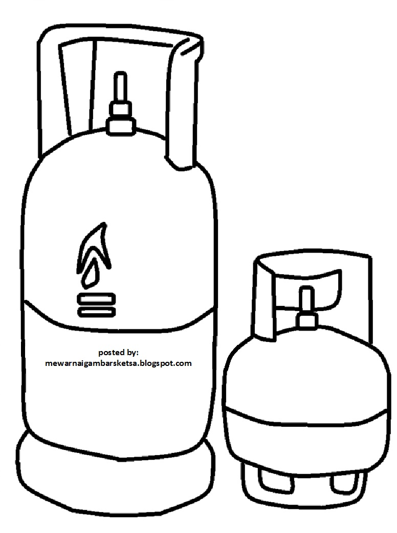 Mewarnai Gambar Tabung Gas 1