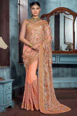 Stylish-indian-embroidered-bridal-saree-2017-for-brides-11