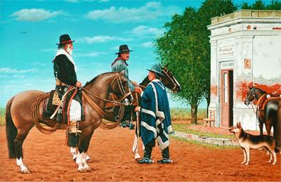 gauchos a caballo
