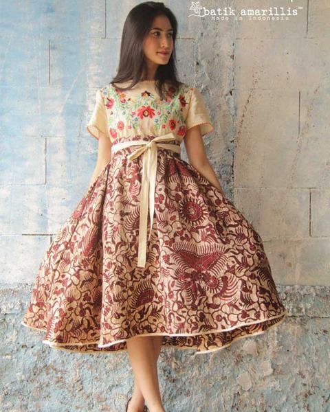 Model Baju Batik Modern Dress: +9 Gambar Model Baju Vintage Terbaru 2017