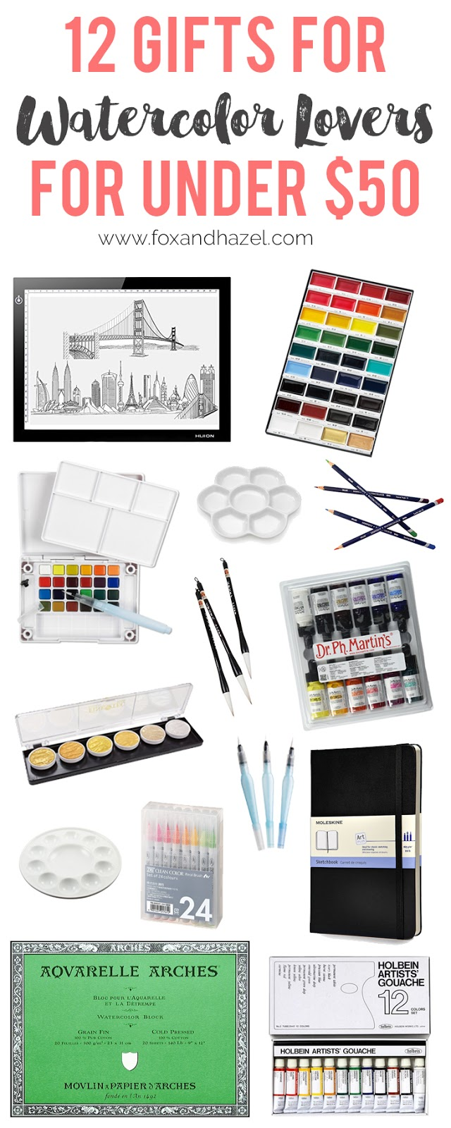 12 gifts for watercolor artists under $50 - fox + hazel