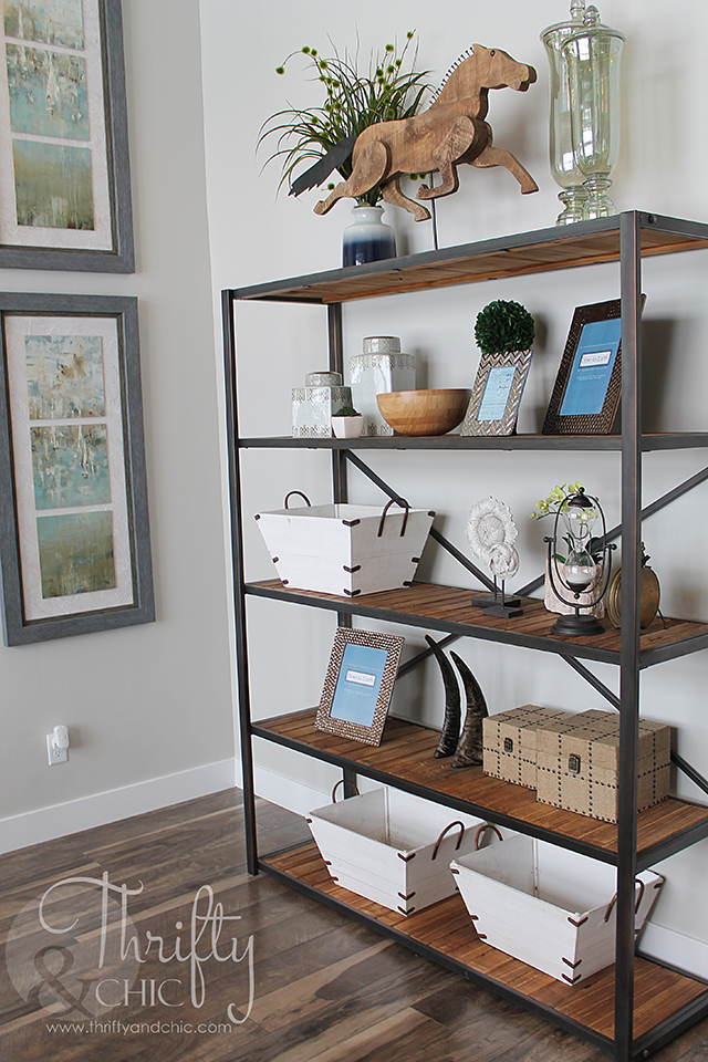 bookcase decorating idea and model home tour