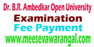 BRAOU Examination Registration Fee Payment Online