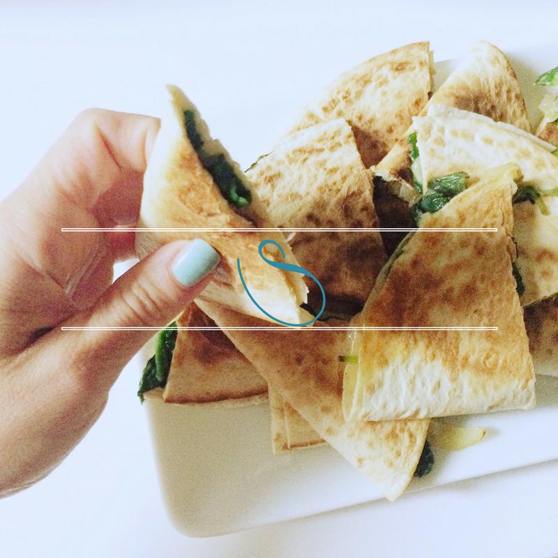 #Spinach & caramelized onion quesadilla | Quesdilla épinards & oignons caramelisés