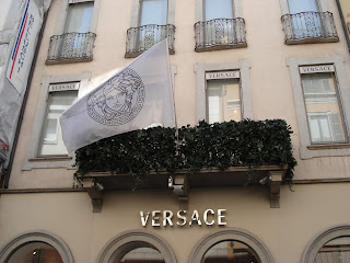 Versace's current flagship Milan store is in the prestigious Via Monte Napoleone